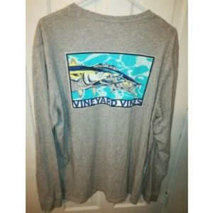 Vineyard Vines L/S Whale Pocket Shirt Fish Logo